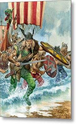 Vikings Metal Print by Pete Jackson