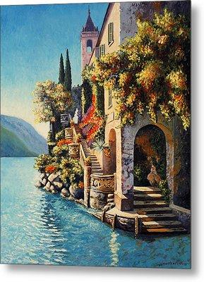 Villa Balbianello Lake Como Metal Print by Santo De Vita