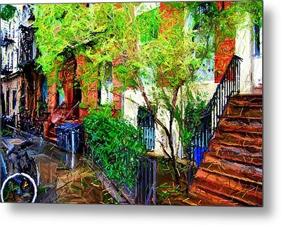 Village Life Sketch Metal Print by Randy Aveille