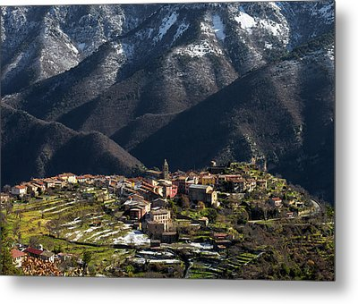 Metal Print featuring the photograph Village Of Utelle by Carl Amoth