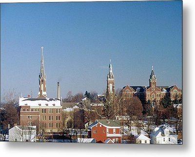 Metal Print featuring the photograph Village Of Spires by Gary Wonning