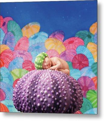 Vince As A Sea Urchin Metal Print by Anne Geddes