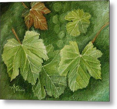 Vine Leaves Metal Print