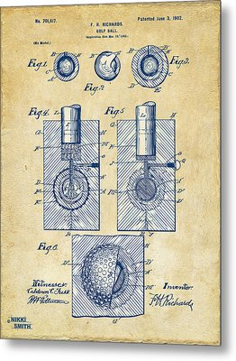 Vintage 1902 Golf Ball Patent Artwork Metal Print
