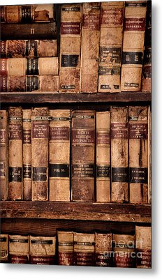 Metal Print featuring the photograph Vintage American Law Books by Jill Battaglia