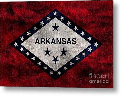 Vintage Arkansas Flag Metal Print