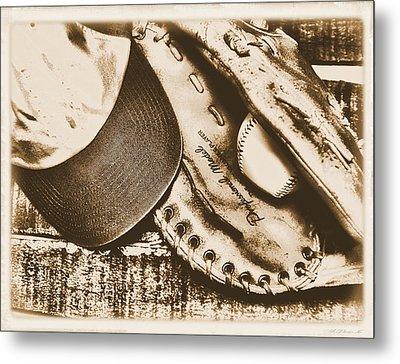 Vintage Baseball Metal Print by Jimmy Ostgard