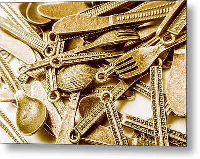 Vintage Buffet Metal Print by Jorgo Photography - Wall Art Gallery