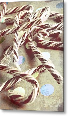 Vintage Candy Canes Metal Print by Jorgo Photography - Wall Art Gallery