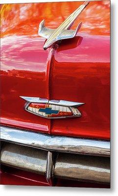 Vintage Chevy Hood Ornament Havana Cuba Metal Print by Charles Harden