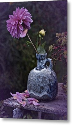 Metal Print featuring the photograph Vintage Dahlia Still Life by Richard Cummings