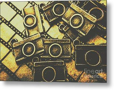 Vintage Film Camera Scene Metal Print by Jorgo Photography - Wall Art Gallery