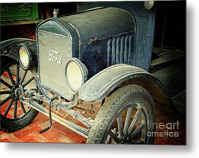 Vintage Ford Metal Print by Inspirational Photo Creations Audrey Woods