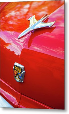 Metal Print featuring the photograph Vintage Ford Hood Ornament Havana Cuba by Charles Harden