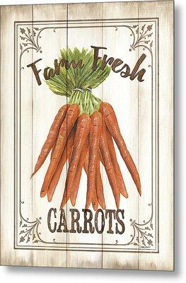 Vintage Fresh Vegetables 3 Metal Print