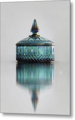 Vintage Glass Candy Jar Metal Print