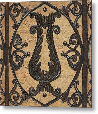 Vintage Iron Scroll Gate 2 Metal Print by Debbie DeWitt