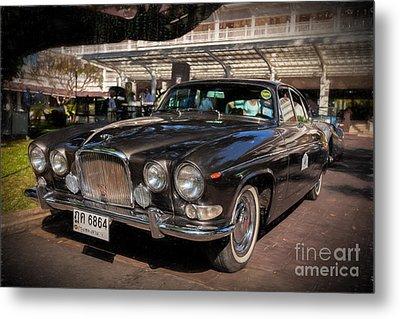 Vintage Jaguar Metal Print by Adrian Evans