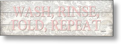 Vintage Laundry Room Sign 2 Metal Print