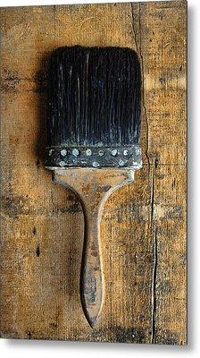 Vintage Paint Brush Metal Print by Jill Battaglia