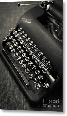 Vintage Portable Typewriter Metal Print