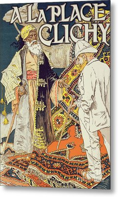 Vintage Poster Advertising A La Place Clichy, A Shop Specializing In Oriental Goods, 1891 Metal Print