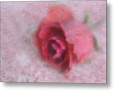 Metal Print featuring the photograph Vintage Red Rose by Diane Alexander