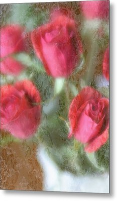 Metal Print featuring the photograph Vintage Rose Bouquet by Diane Alexander