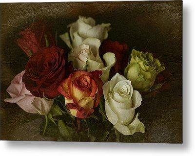 Vintage Roses Feb 2017 Metal Print by Richard Cummings