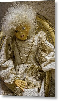 Metal Print featuring the photograph Vintage Slovenian Doll by Stuart Litoff