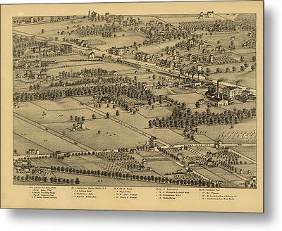 Vintage St Louis Map - 1875 Metal Print by Camille Dry