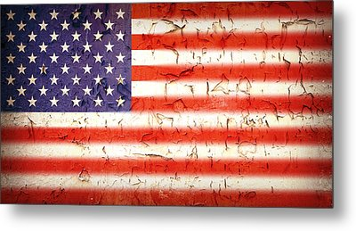 Vintage Stars And Stripes Metal Print by Jane Rix