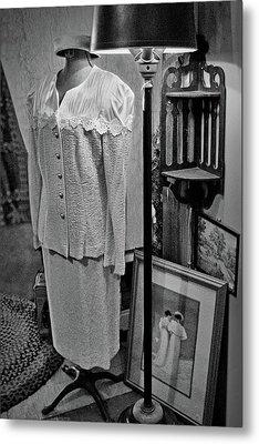 Vintage Suit - Floor Lamp Metal Print by Nikolyn McDonald
