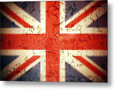 Vintage Union Jack Metal Print by Jane Rix