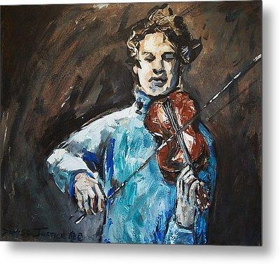 Violinist1 Metal Print by Denise Justice