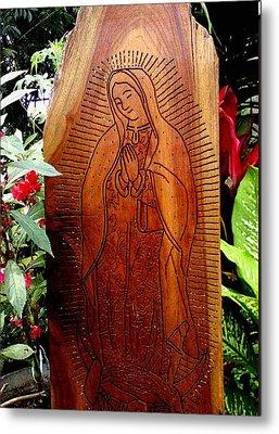 Virgen De Guadalupe Metal Print by Calixto Gonzalez