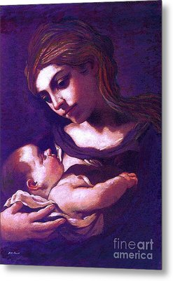 Virgin Mary And Baby Jesus, The Greatest Gift Metal Print by Jane Small
