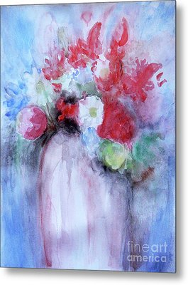 Metal Print featuring the painting Vitality Still Life by Jasna Dragun