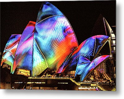 Metal Print featuring the photograph Vivid Festival, Sydney by Wallaroo Images