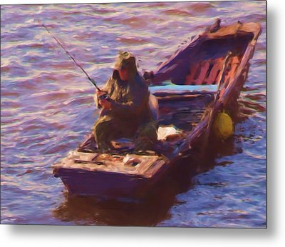 Vltava Fishing Metal Print by Shawn Wallwork