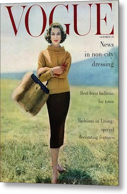 Vogue Magazine Cover Featuring Model Va Taylor Metal Print