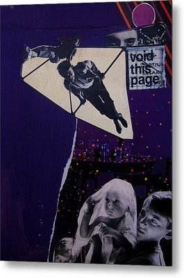 Void This Page Metal Print by Adam Kissel