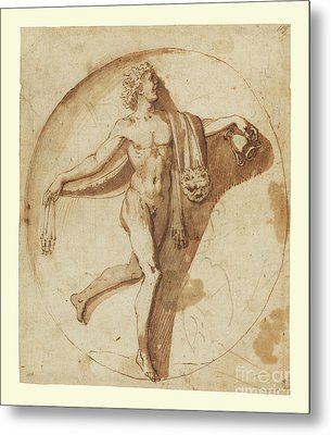 Votary Of Bacchus By Nicolas Poussin Metal Print by Esoterica Art Agency