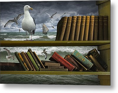 Voyage Into The World Of Books Metal Print by Randall Nyhof