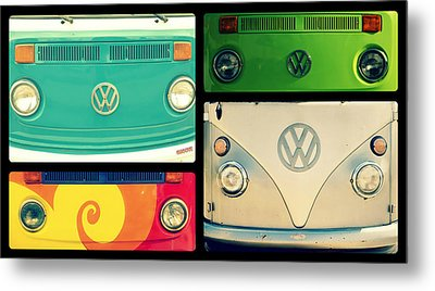 Vw Collage Metal Print by Robin Dickinson