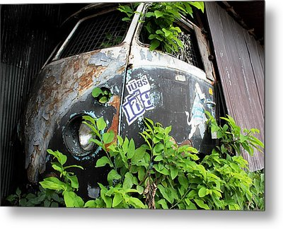 Vw Van Wall Metal Print