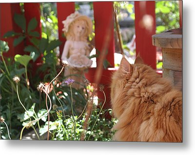 Wackie Love's The Garden  Metal Print by Susan Perry