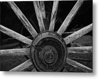 Metal Print featuring the photograph Wagon Wheel by Eric Liller