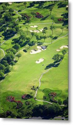 Wailea Gold And Emerald Courses Metal Print by Ron Dahlquist - Printscapes