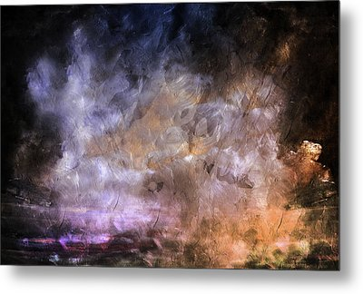 Wait For The Storm To Pass Abstract Metal Print